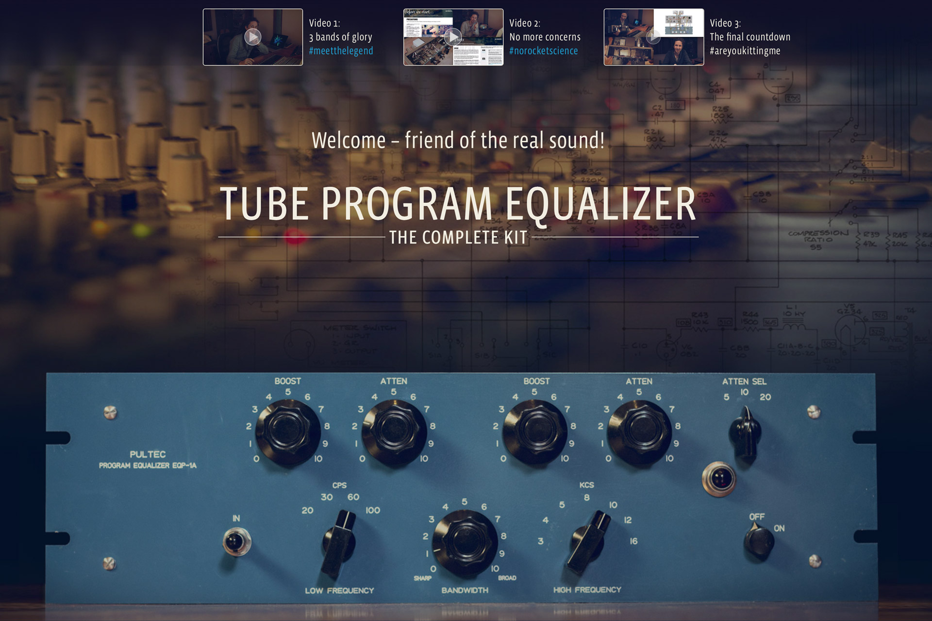 Pre-orders for the Tube Program Equalizer Complete Kit are Open Now!!!